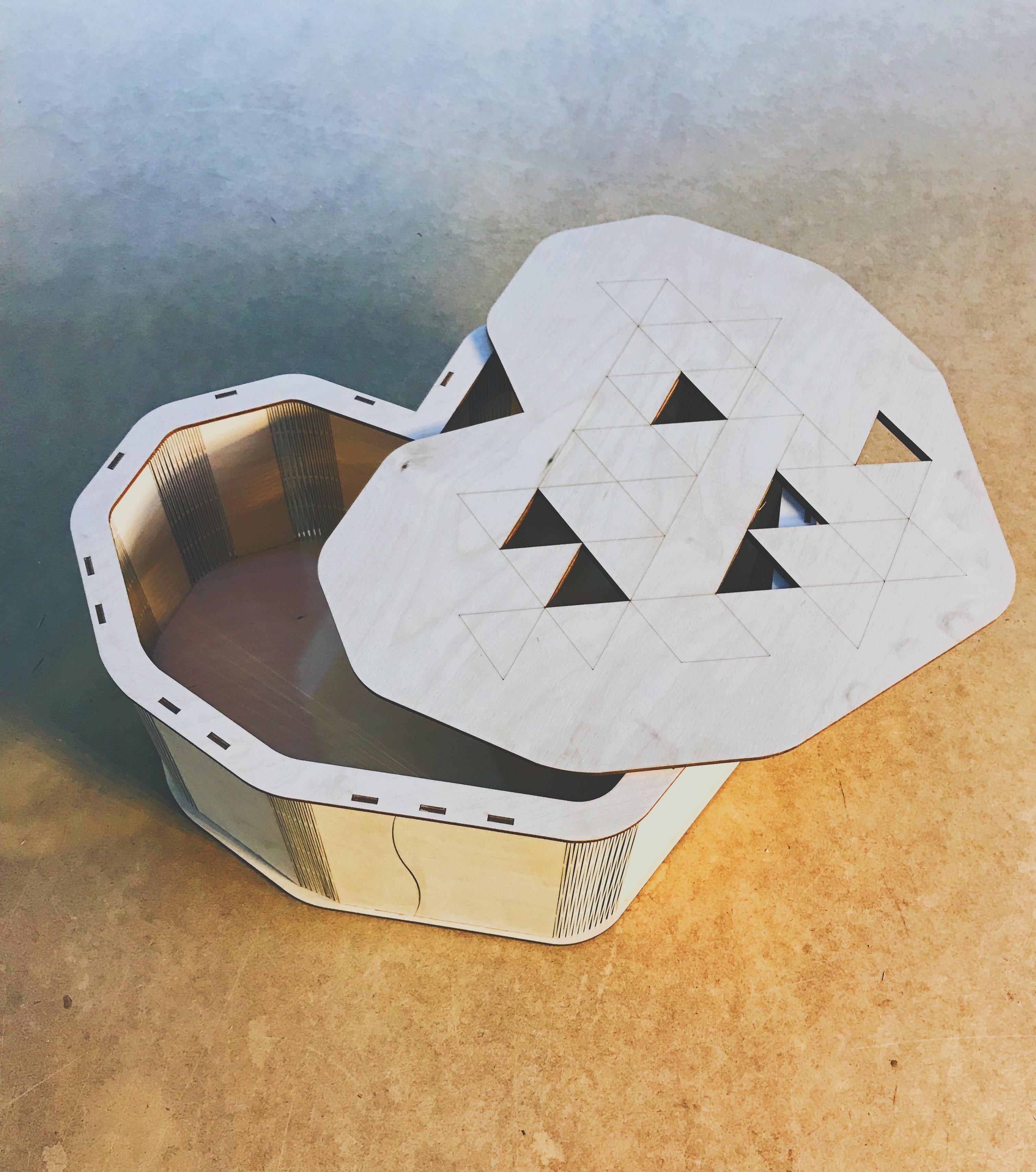 Сердце коробка - лазерная резка