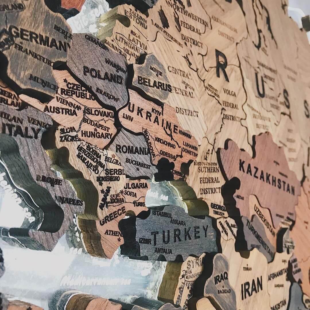 карта мира 9